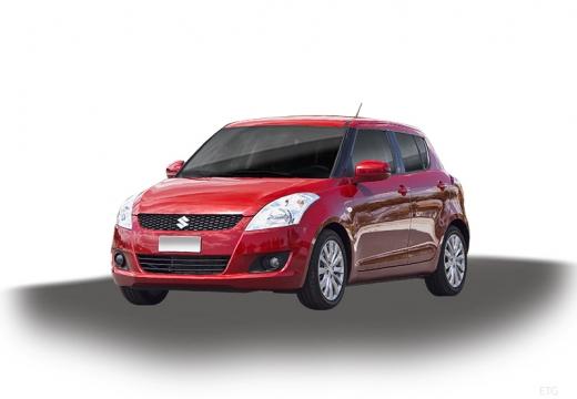 SUZUKI Swift II hatchback czerwony jasny
