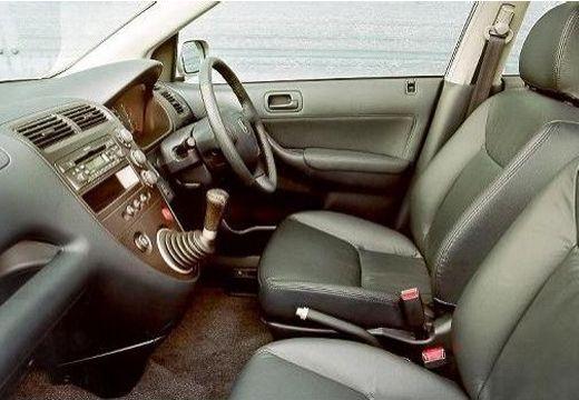 HONDA Civic IV hatchback silver grey wnętrze