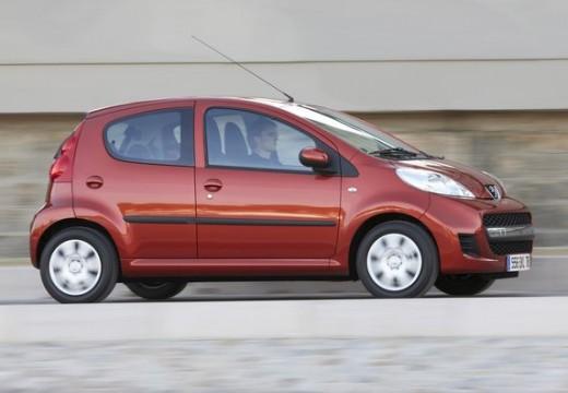 PEUGEOT 107 hatchback czerwony jasny przedni prawy