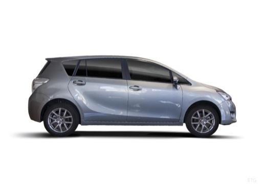 Toyota Verso, универсал, mpv темно-серый боковая правая