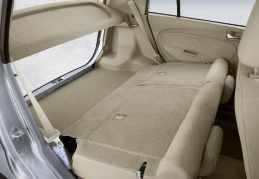 DAIHATSU Cuore VI hatchback silver grey przestrzeń załadunkowa