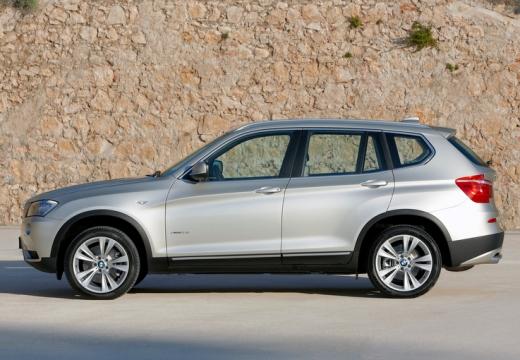 BMW X3 X 3 F25 I kombi silver grey boczny lewy