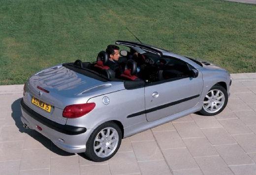 PEUGEOT 206 CC I kabriolet silver grey tylny prawy