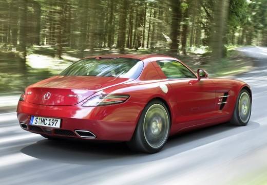 MERCEDES-BENZ SLS coupe czerwony jasny tylny prawy