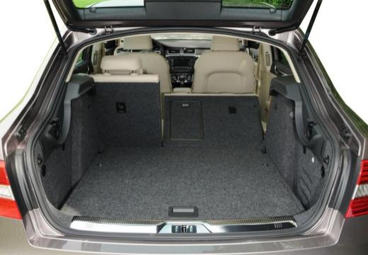 SKODA Superb IV hatchback przestrzeń załadunkowa