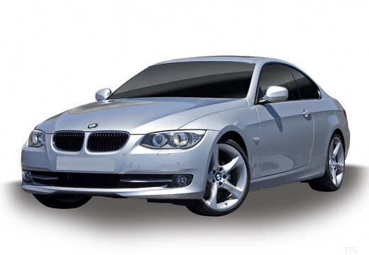 BMW Seria 3 E92 II coupe silver grey