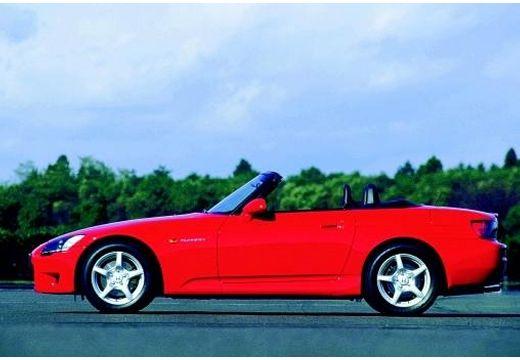 HONDA S 2000 roadster czerwony jasny boczny lewy