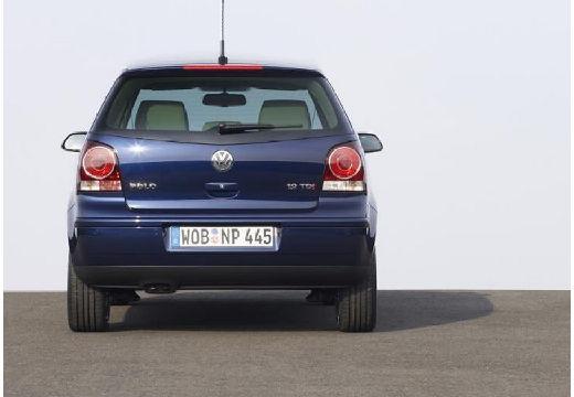 VOLKSWAGEN Polo IV II hatchback niebieski jasny tylny