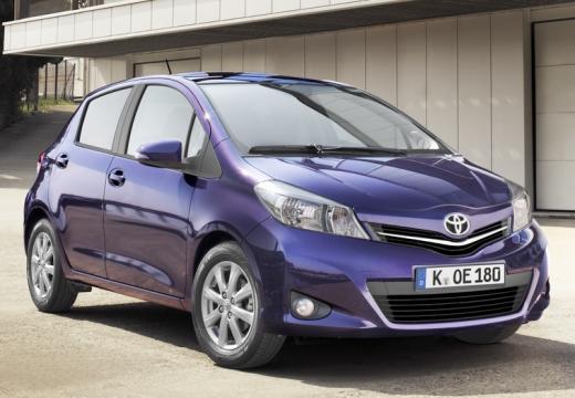 Toyota Yaris hatchback niebieski jasny przedni prawy