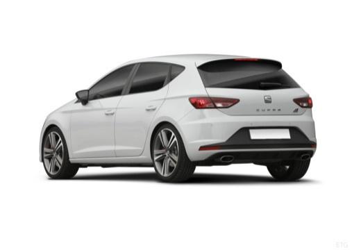 SEAT Leon IV hatchback biały tylny lewy