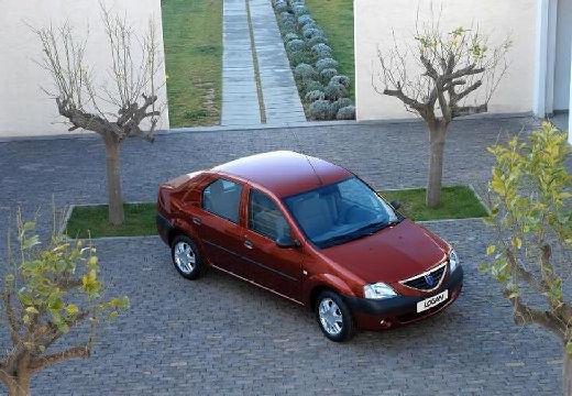 DACIA Logan I sedan bordeaux (czerwony ciemny) przedni prawy