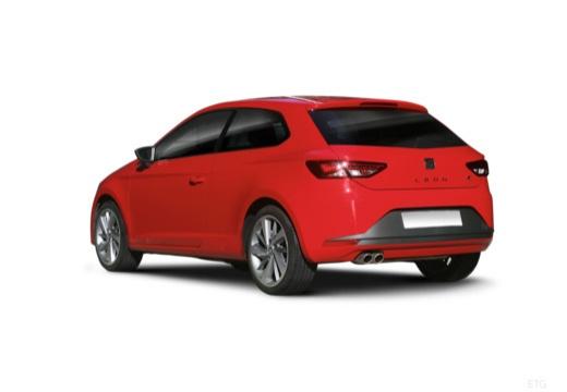 SEAT Leon IV hatchback czerwony jasny tylny lewy
