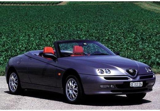 ALFA ROMEO Spider II kabriolet silver grey przedni prawy