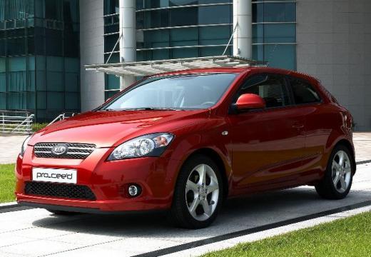 KIA Ceed Proceed II hatchback czerwony jasny przedni lewy