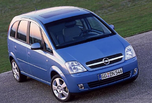 OPEL Meriva II hatchback niebieski jasny przedni prawy