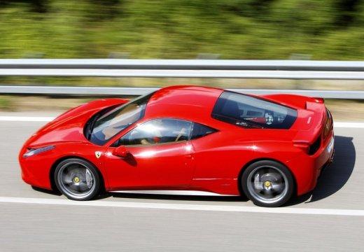 FERRARI 458 I coupe czerwony jasny tylny lewy