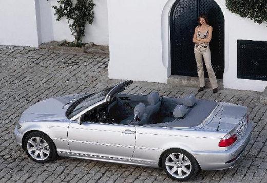 BMW Seria 3 kabriolet silver grey tylny lewy