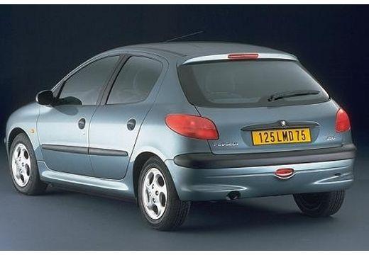 PEUGEOT 206 I hatchback niebieski jasny tylny lewy