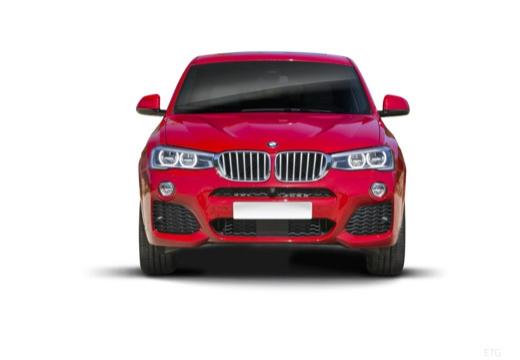 BMW X4 X 4 F26 kombi czerwony jasny przedni