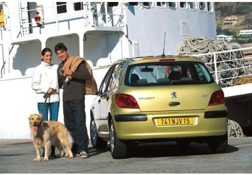 PEUGEOT 307 I hatchback złoty tylny lewy