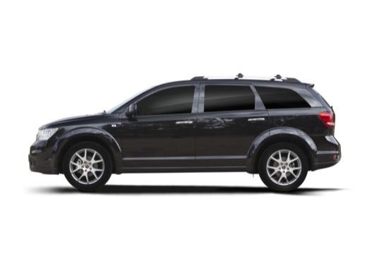 FIAT Freemont I van czarny boczny lewy