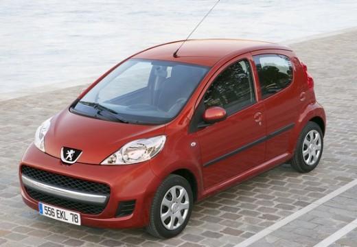 PEUGEOT 107 hatchback czerwony jasny przedni lewy