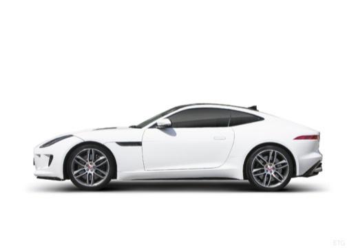 JAGUAR F-Type I coupe biały boczny lewy