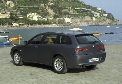 ALFA ROMEO 156 kombi czarny tylny lewy