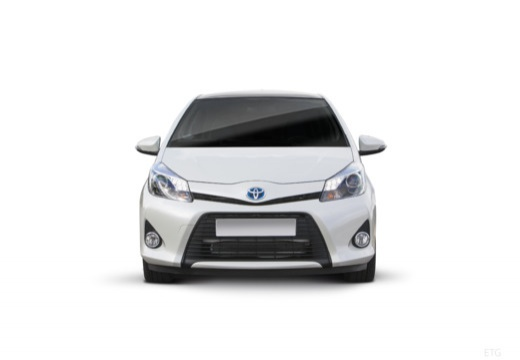 Toyota Yaris V hatchback biały przedni