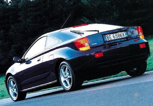 Toyota Celica coupe niebieski jasny tylny lewy