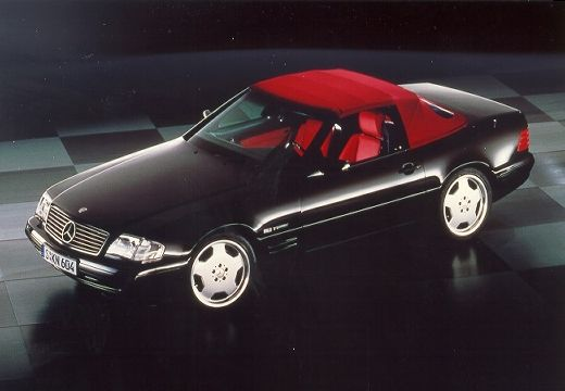 MERCEDES-BENZ Klasa SL SL R129 I kabriolet czarny przedni lewy