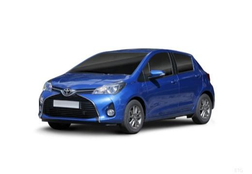 Toyota Yaris hatchback niebieski jasny przedni lewy