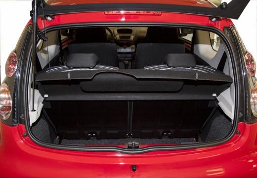 CITROEN C1 III hatchback czerwony jasny przestrzeń załadunkowa