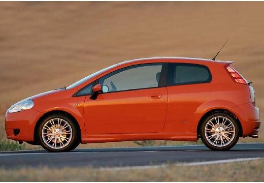 FIAT Punto Grande hatchback pomarańczowy boczny lewy
