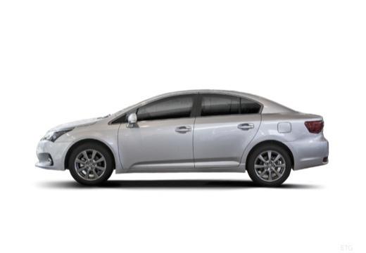Toyota Avensis sedan silver grey boczny lewy