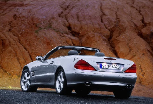 MERCEDES-BENZ Klasa SL SL 230 I roadster silver grey tylny lewy