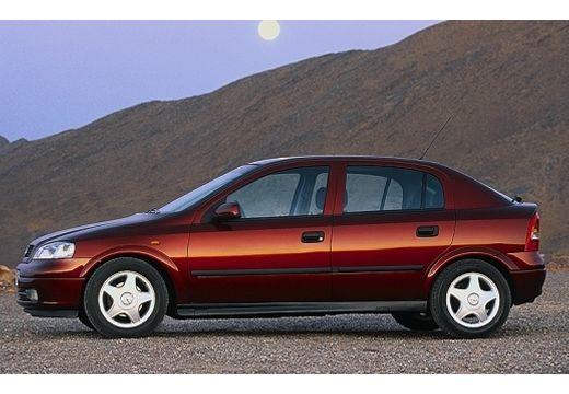 OPEL Astra II hatchback bordeaux (czerwony ciemny) boczny lewy