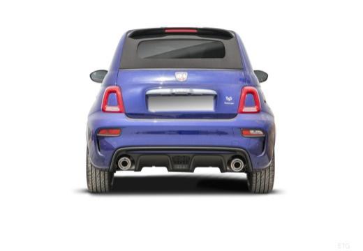 ABARTH 500 C kabriolet niebieski jasny tylny