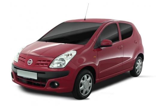 NISSAN Pixo hatchback czerwony jasny