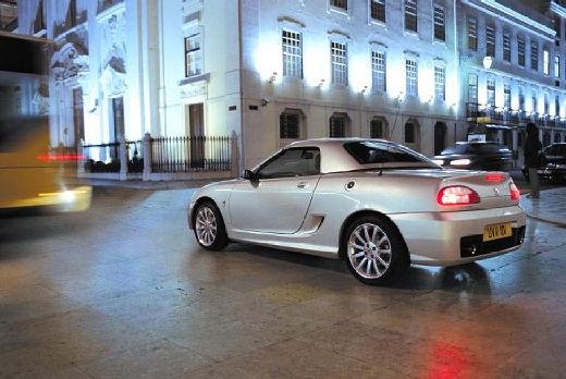 MG TF roadster silver grey tylny lewy