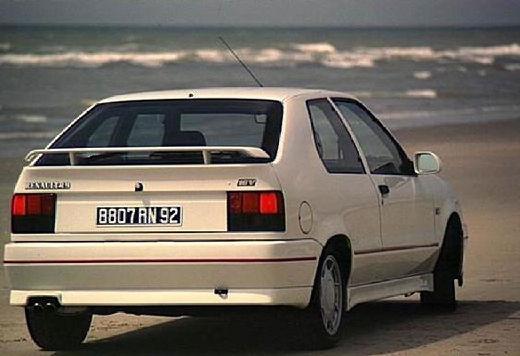 RENAULT R19 I hatchback biały tylny prawy