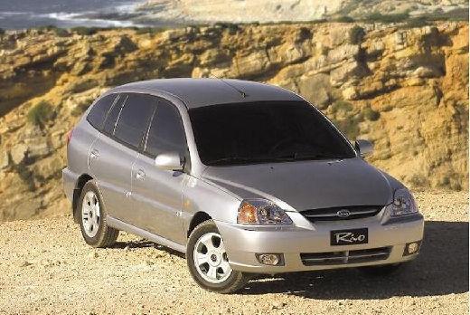 KIA Rio II hatchback silver grey przedni prawy