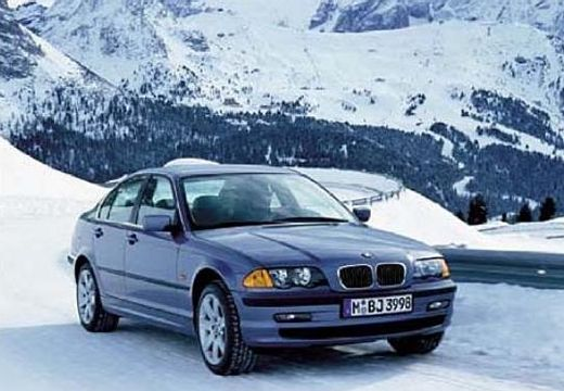 BMW Seria 3 sedan niebieski jasny przedni prawy