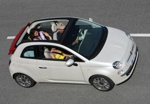 FIAT 500 C I kabriolet biały przedni prawy