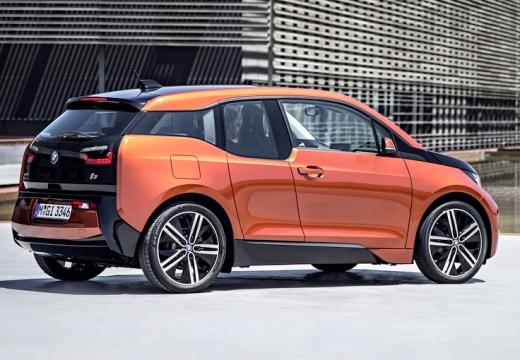 BMW i3 hatchback pomarańczowy tylny prawy