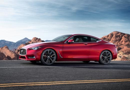 INFINITI Q60 coupe czerwony jasny boczny lewy