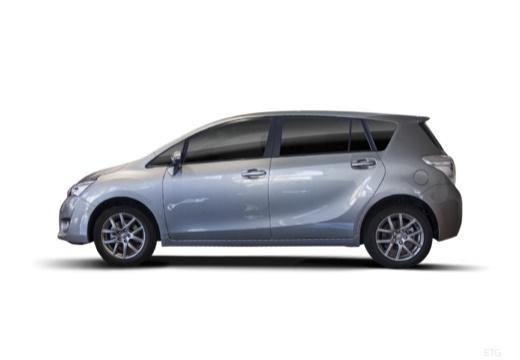Toyota Verso II kombi mpv szary ciemny boczny lewy