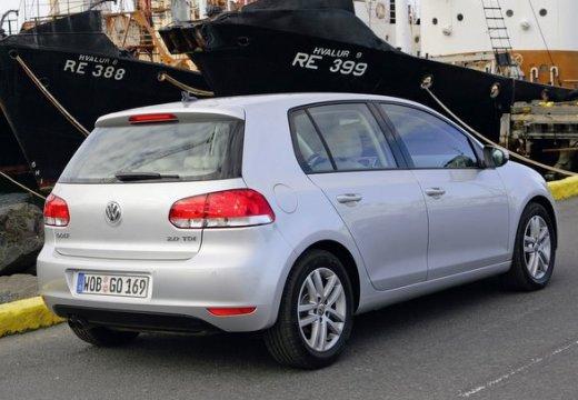 VOLKSWAGEN Golf VI hatchback silver grey tylny prawy