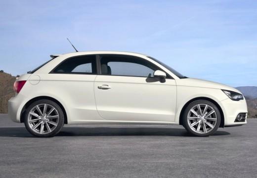AUDI A1 I hatchback biały boczny prawy