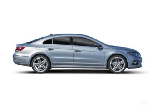 VOLKSWAGEN Passat CC sedan silver grey boczny prawy